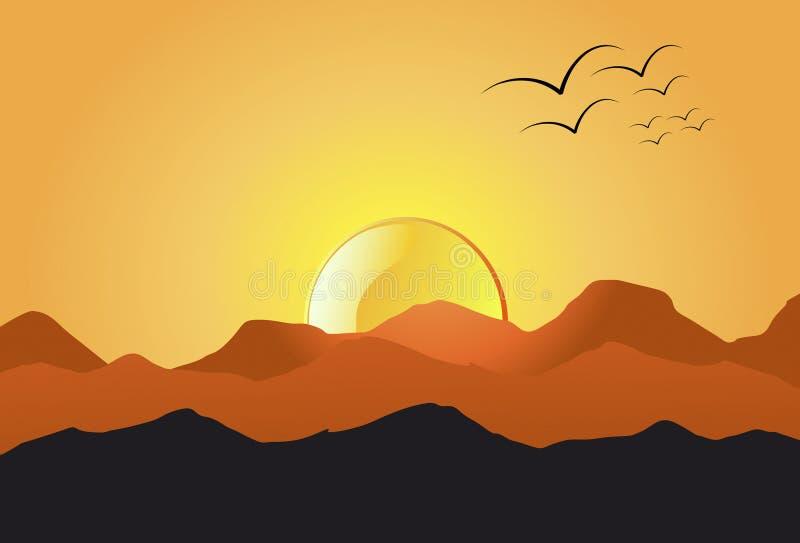 De Berg van de zonsondergang royalty-vrije stock fotografie