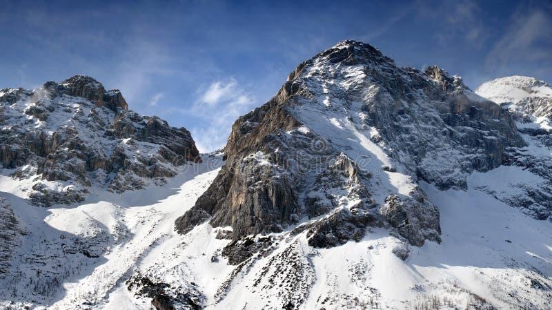 De berg van Dolomiti royalty-vrije stock afbeelding
