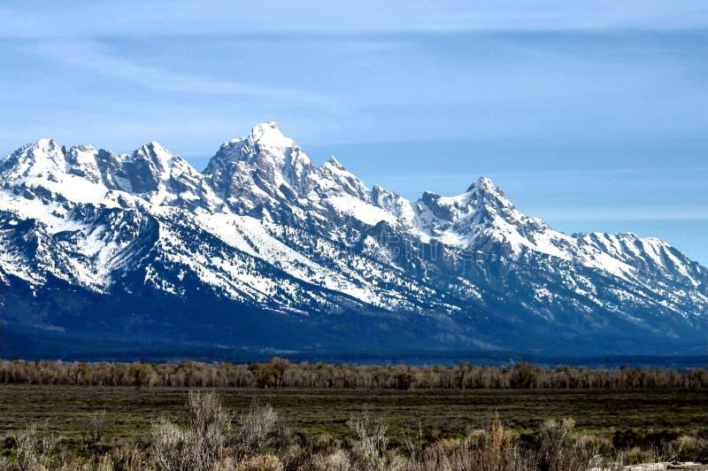 De berg van Grand Teton royalty-vrije stock foto