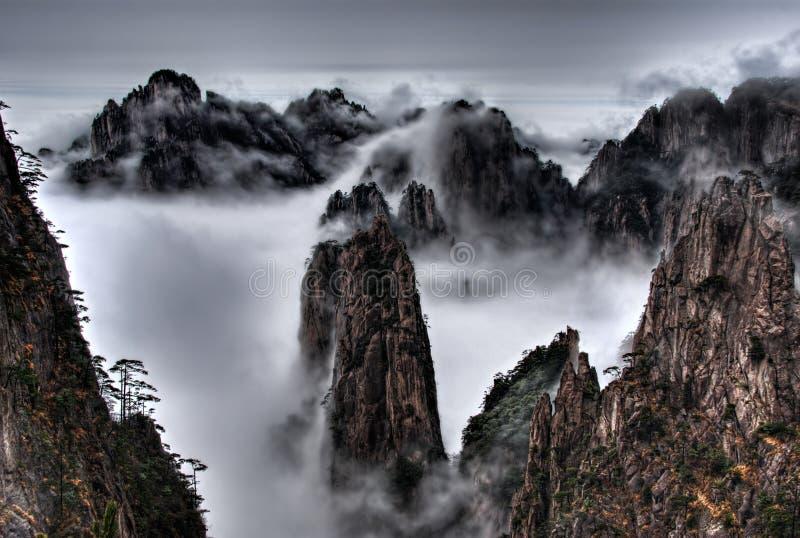 De Berg van Huangshan stock afbeeldingen