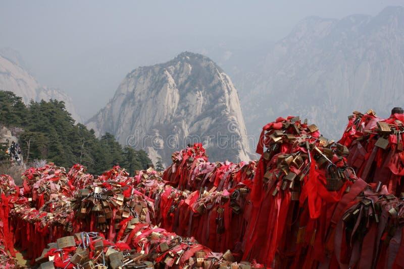 De Berg van Huashan stock foto