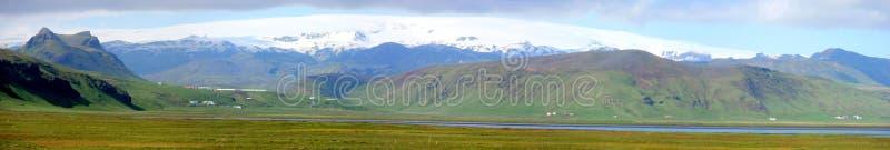 De berg van IJsland en gletsjer groene landscale royalty-vrije stock fotografie