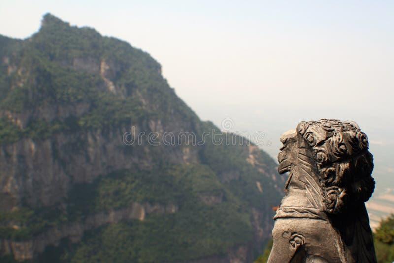 De berg van Jiexiumian stock afbeeldingen