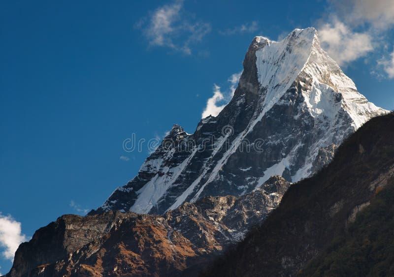 De berg van Machhapuchhre stock fotografie