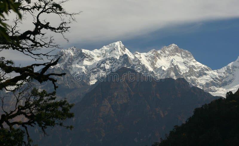 De berg van Manaslu, Nepal royalty-vrije stock foto's