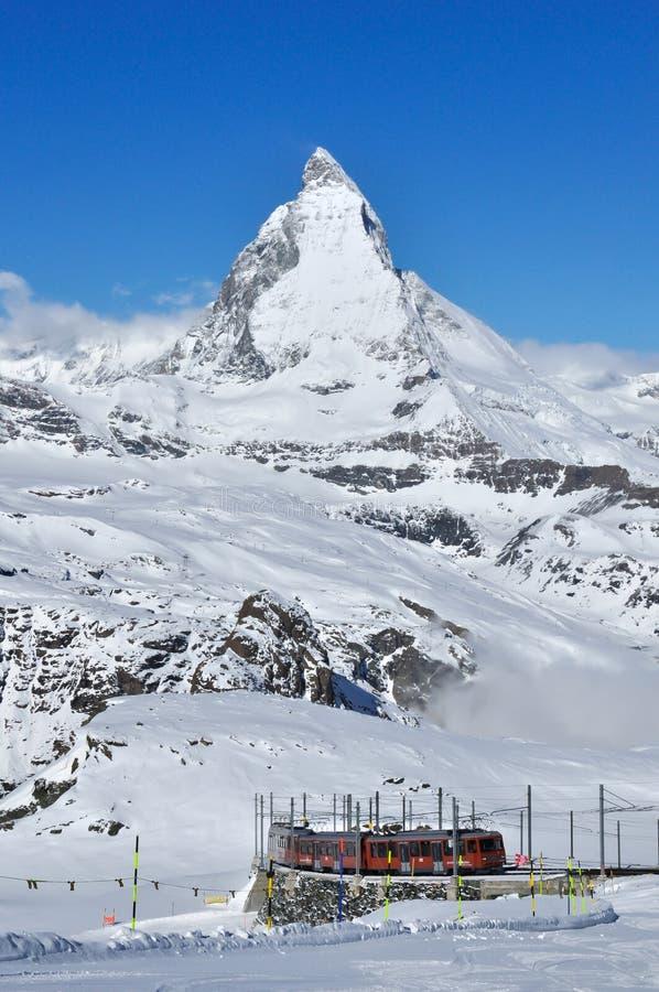 De berg van Matterhorn in Zermatt, Zwitserland stock fotografie