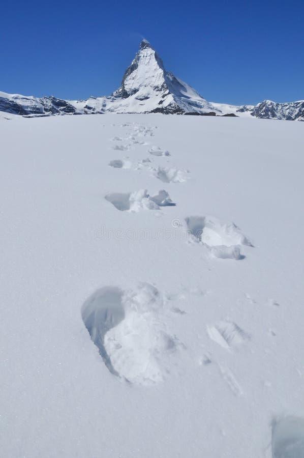 De berg van Matterhorn in Zermatt, Zwitserland royalty-vrije stock foto's