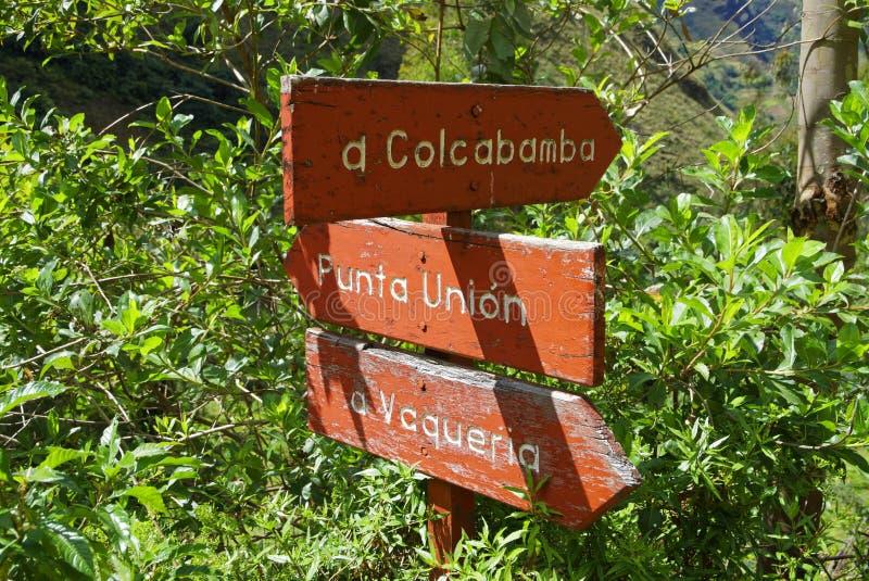 De berg van Peru stock fotografie