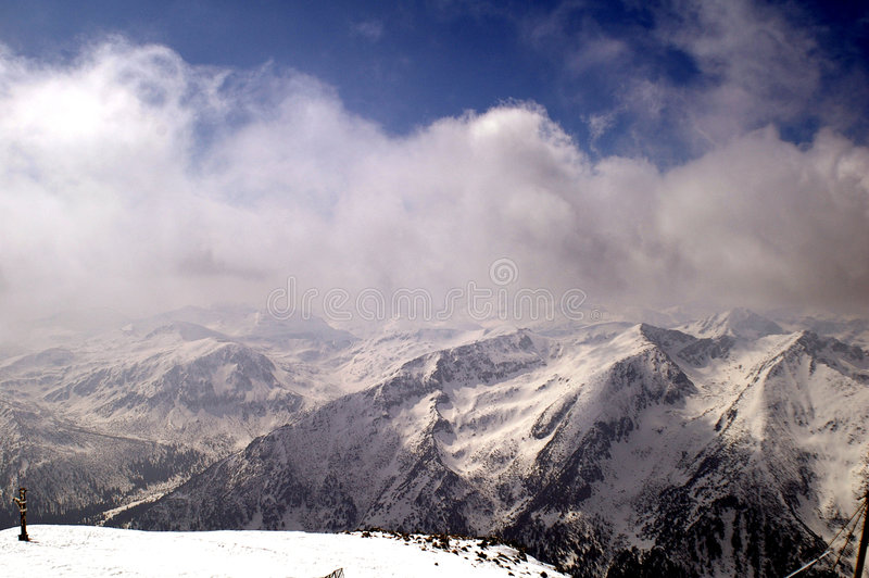 De berg van Rila stock foto