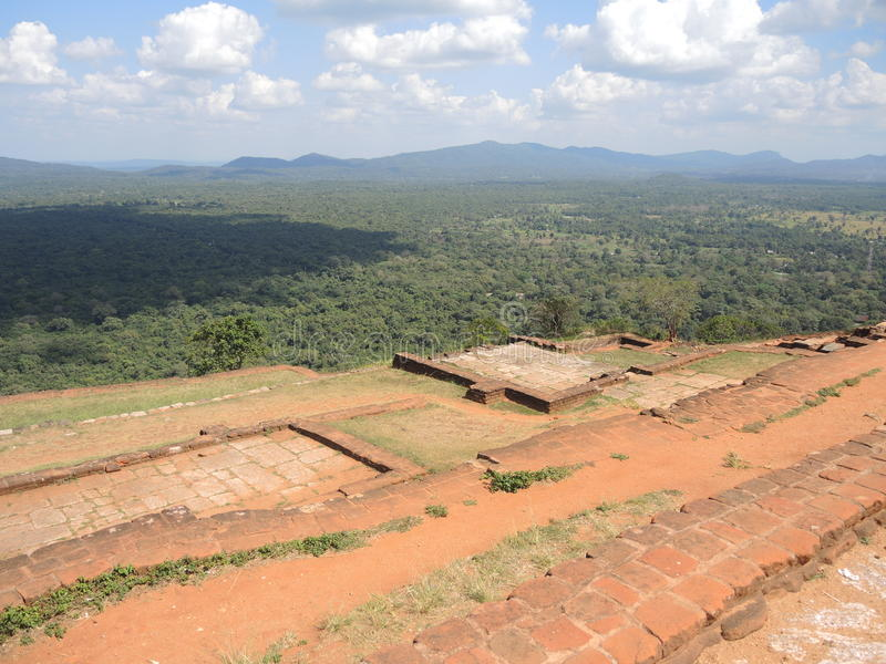 De berg van Sigiriya royalty-vrije stock afbeelding