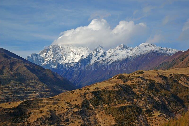 De Berg van Siguniang royalty-vrije stock afbeeldingen