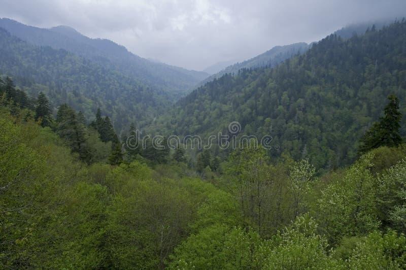 De Berg van Smokey, Morton overziet stock afbeelding
