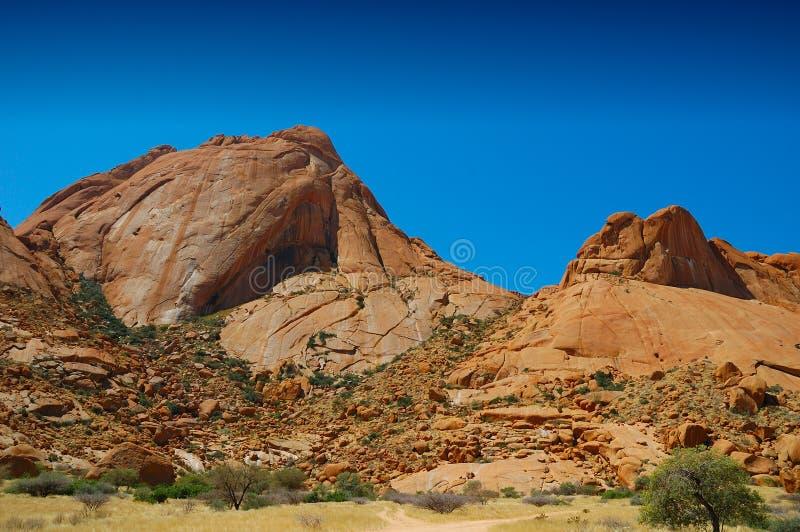 De Berg van Spitzkoppe (Namibië) stock foto's