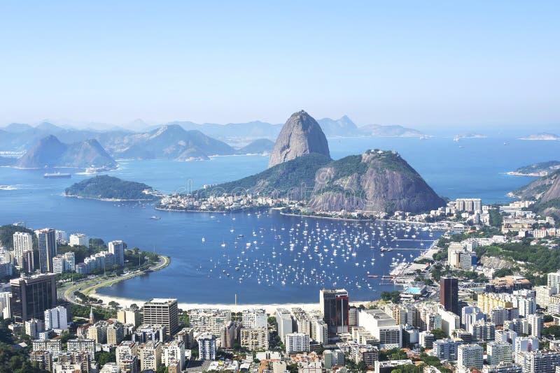 De Berg van Sugarloaf in Rio de Janeiro, Brazilië stock foto's