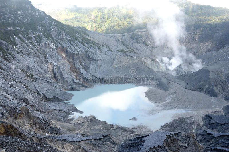De Berg van Tangkubanperahu stock afbeelding