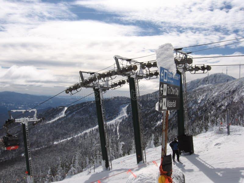 De berg Vermont van de sneeuw royalty-vrije stock afbeeldingen