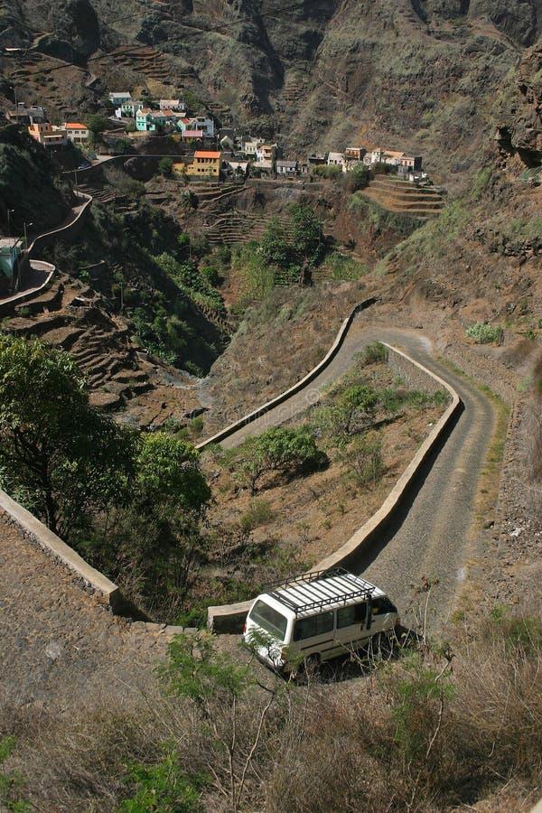 De bergdorp van Kaapverdië stock fotografie