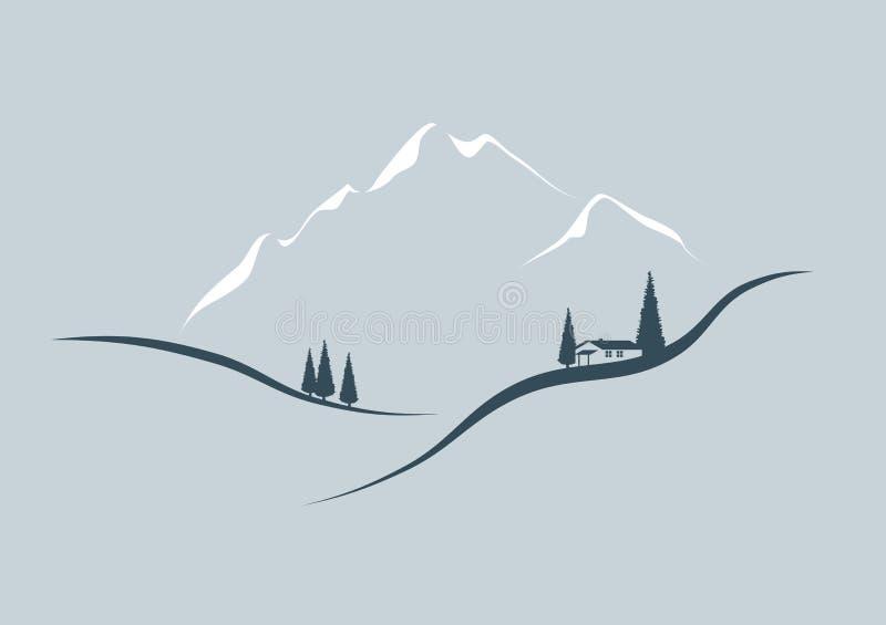 In de bergen royalty-vrije illustratie
