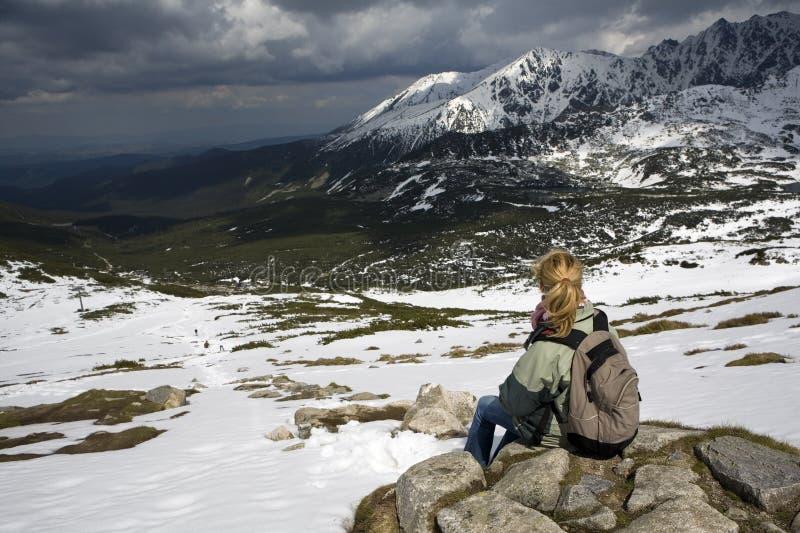 In de bergen stock foto