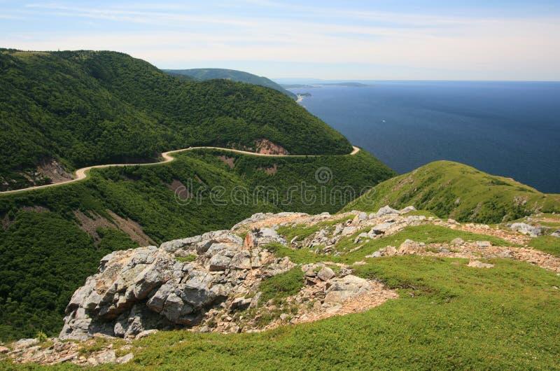 De Bergen & de Oceaan van Nova Scotia stock fotografie
