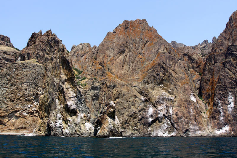 De bergen Kara -kara-dag van Vulcanic royalty-vrije stock foto's