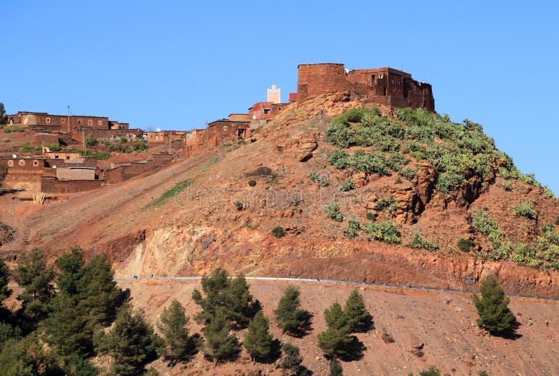 De Bergen Marokko van de Atlas van het dorp royalty-vrije stock foto's