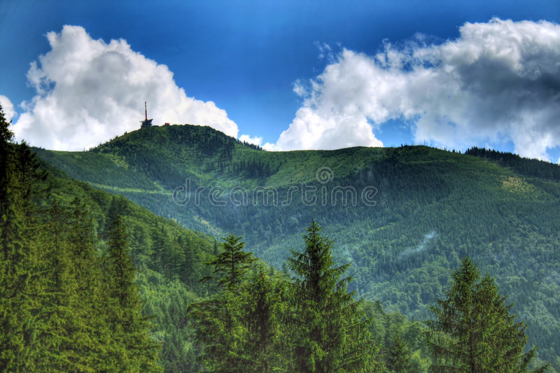 De bergen van Beskydy royalty-vrije stock fotografie