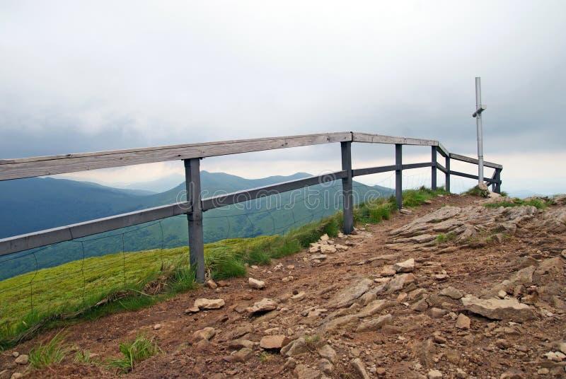 De bergen van Bieszczady royalty-vrije stock afbeeldingen
