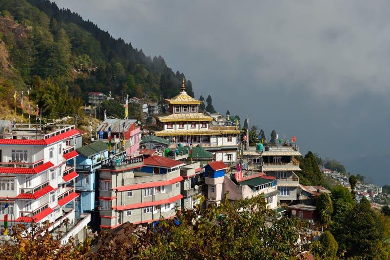 De bergen van de darjeeling zelf, west-bengal - India royalty-vrije stock fotografie