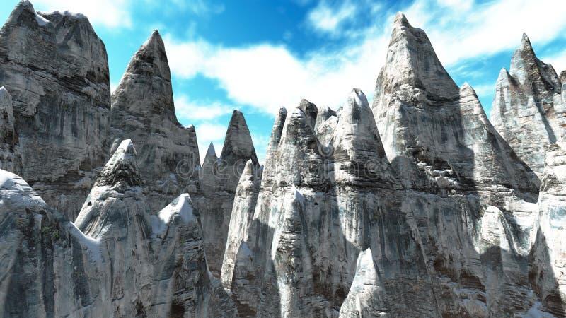 De bergen van de Andes, Argentinië Chili royalty-vrije illustratie