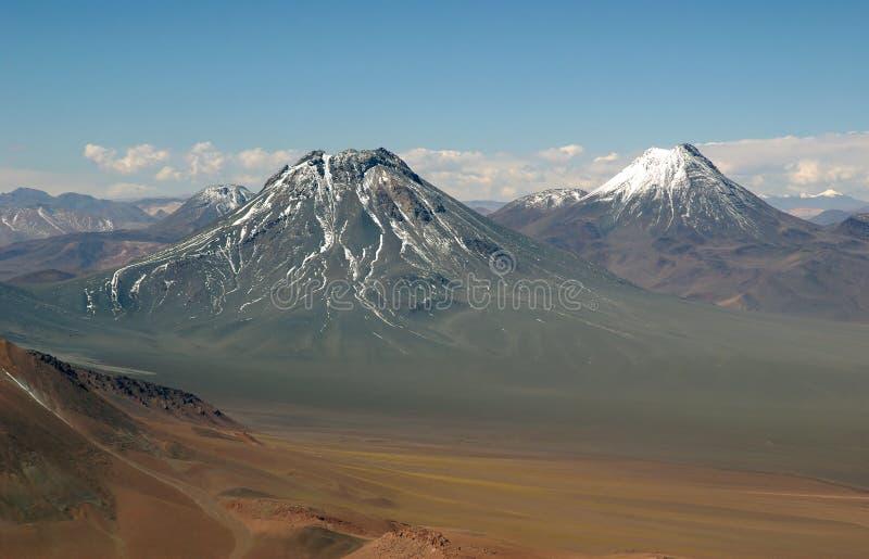 De Bergen van de Andes, Chili stock foto
