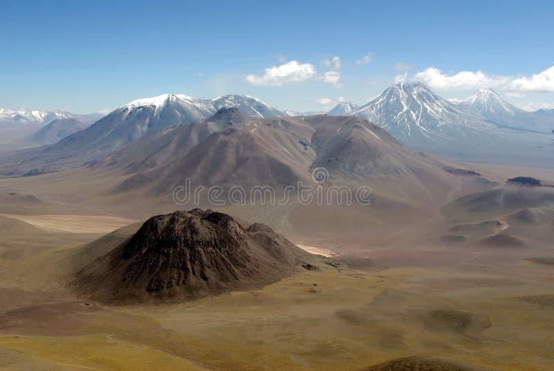 De Bergen van de Andes, Chili royalty-vrije stock afbeeldingen