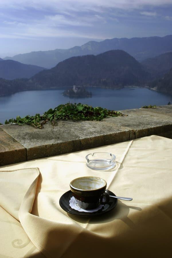 De bergen van de koffie royalty-vrije stock afbeelding