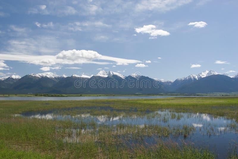 De bergen van de Opdracht stock afbeelding
