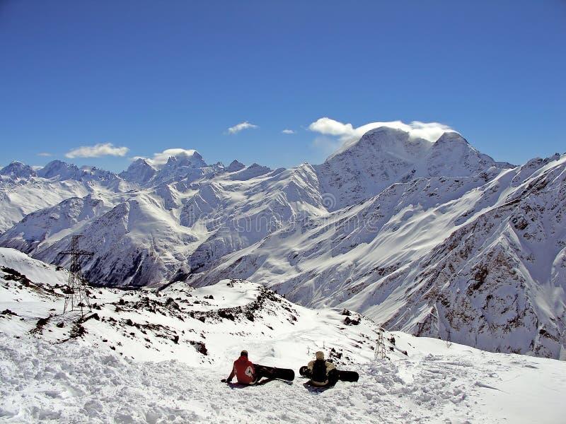 De bergen van de sneeuw stock afbeelding