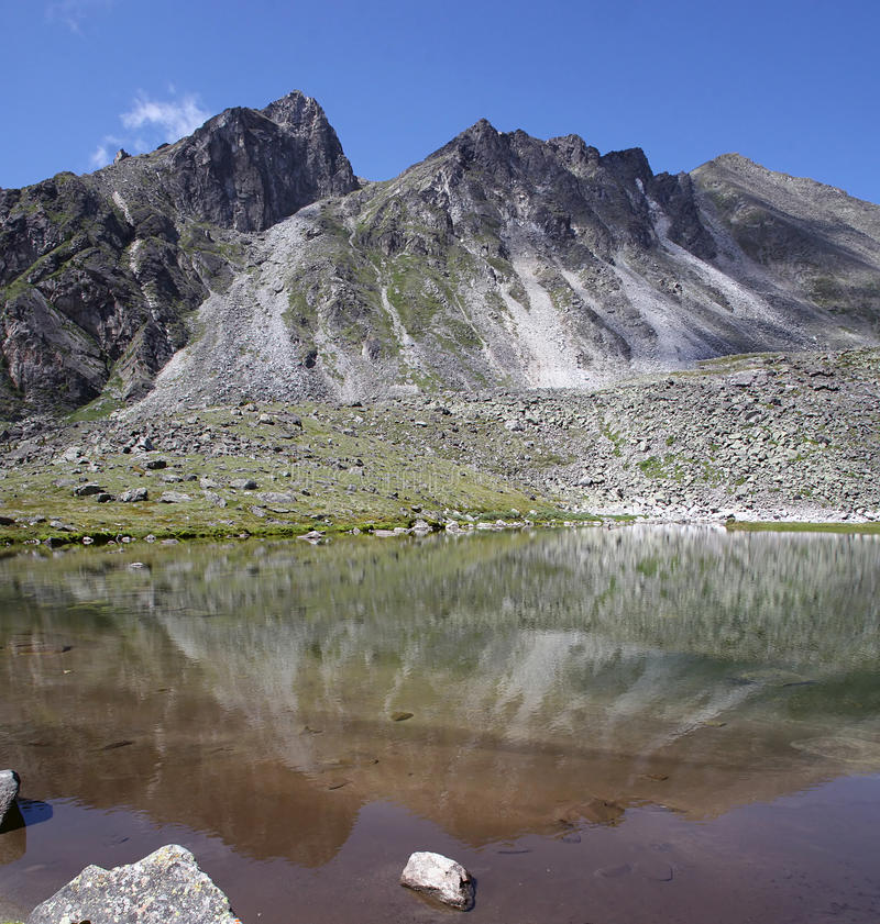 De Bergen van de spiegel stock foto