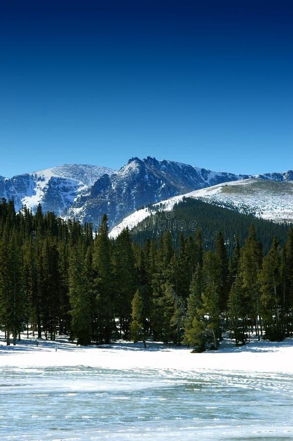 De Bergen van de winter in Colorado royalty-vrije stock afbeeldingen