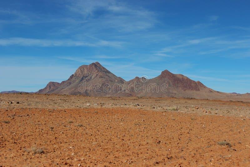 De Bergen van de woestijn stock foto