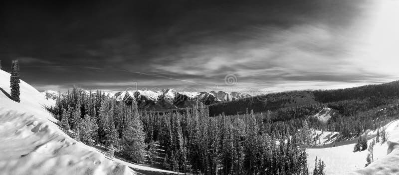 De Bergen van de zaagtand, Idaho stock foto