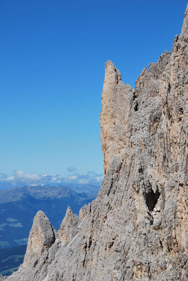 De bergen van Dolomiti in Italië. piek stock afbeeldingen
