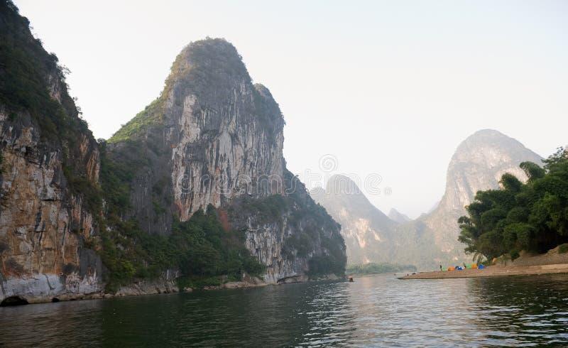 De bergen van Guilin in China stock fotografie