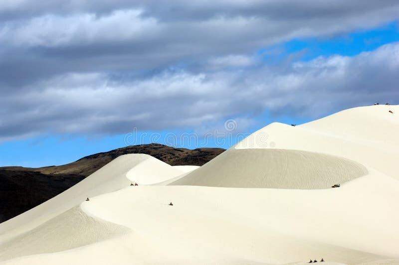 De Bergen van het zand royalty-vrije stock afbeelding