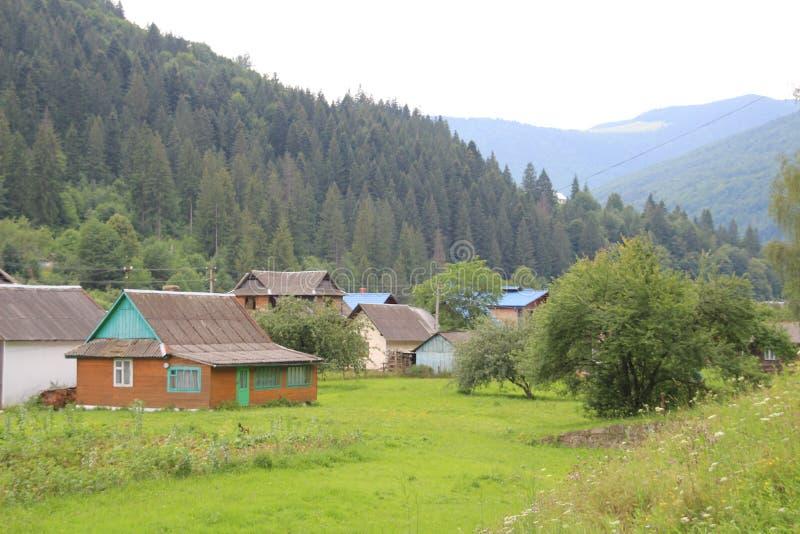 De bergen van de Karpaten zijn niet zo hoog maar zeer majestueus, en het water is het leven in deze bergen stock fotografie