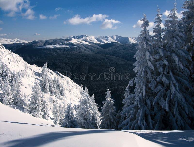 De bergen van Neamtu stock afbeeldingen