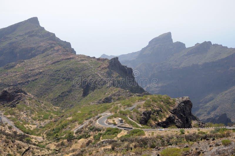 De bergen van Teno op Canarische Eilanden Tenerife royalty-vrije stock fotografie