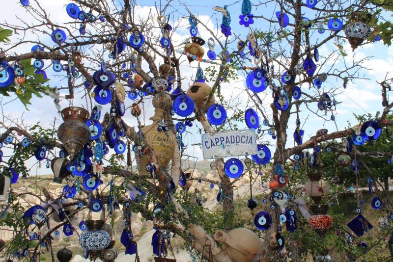 De Bergenboom van Turkije Cappadocia stock afbeeldingen