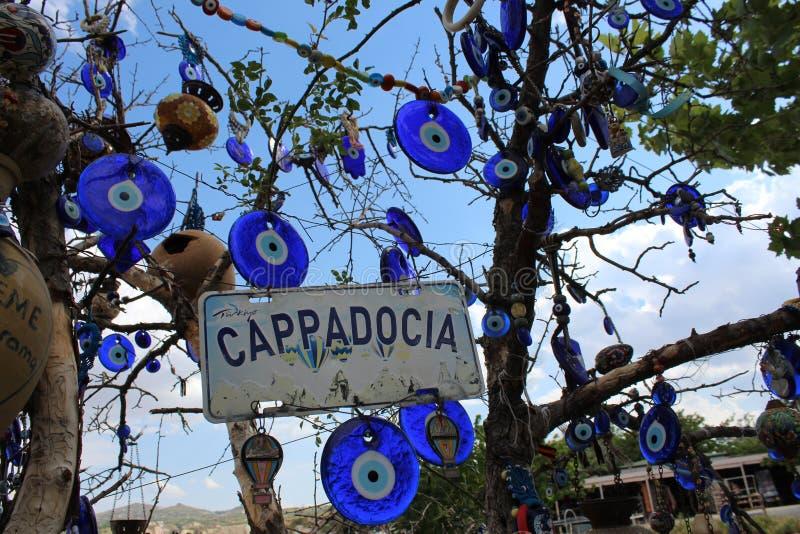 De Bergenboom van Turkije Cappadocia stock foto's