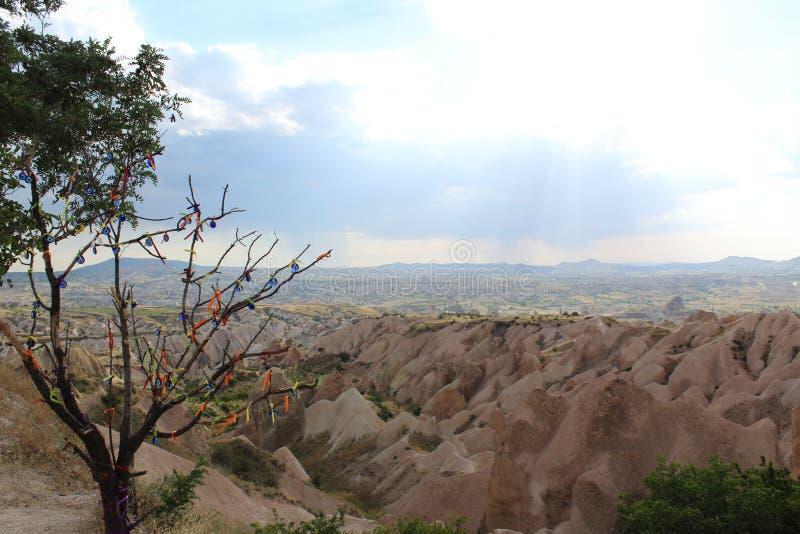 De Bergenboom van Turkije Cappadocia royalty-vrije stock fotografie