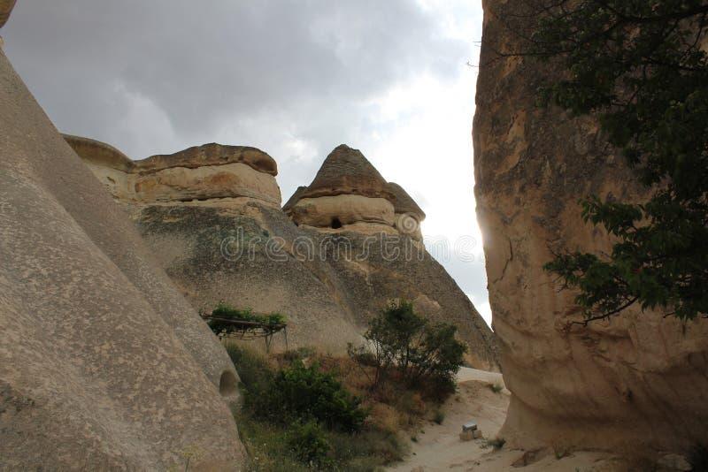De Bergenboom van Turkije Cappadocia royalty-vrije stock afbeeldingen