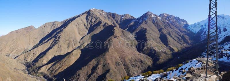 De bergenpanorama van Marokko royalty-vrije stock fotografie